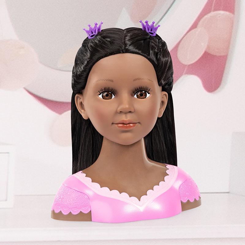 Tête de maquillage Charlene Super Model avec maquillage assorti