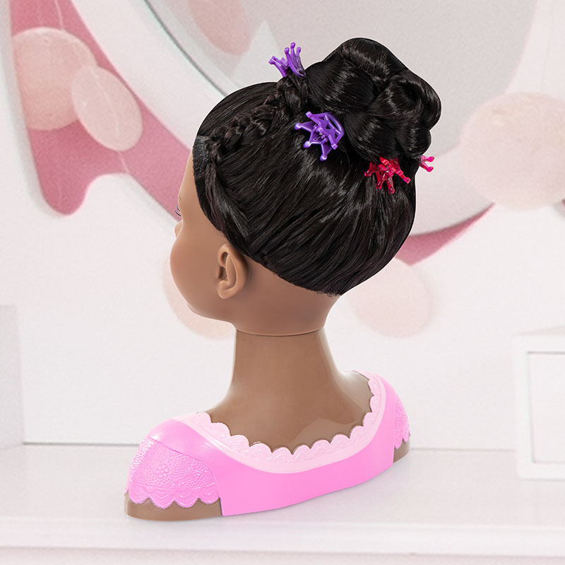 Charlene Super Model Hairstyle Crouched Back View
