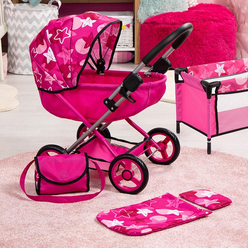 Wózek dla lalek zestaw
