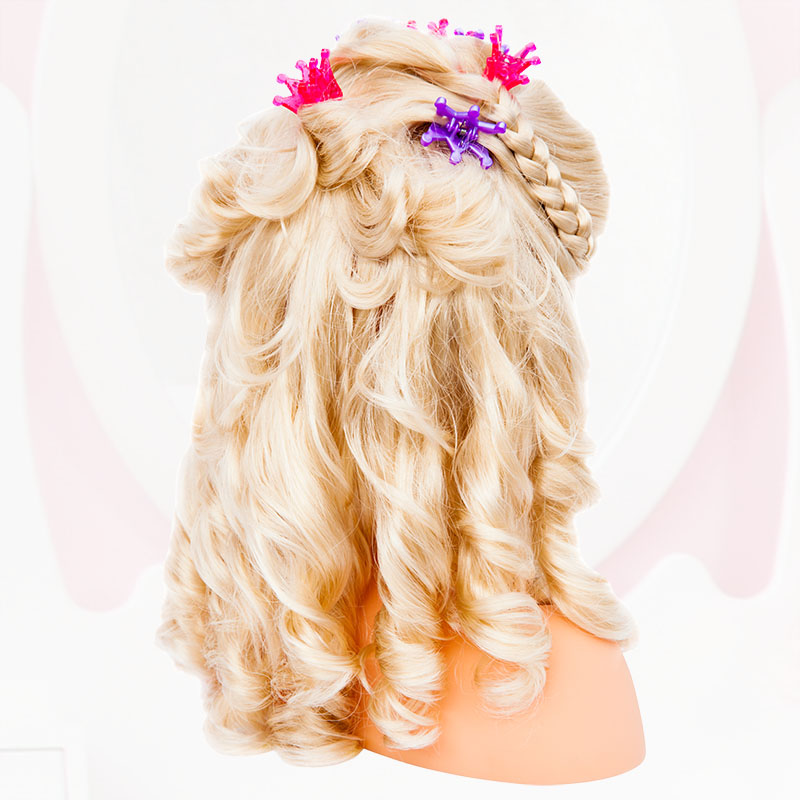 Super Model Frisur mit Haarclips Rückansicht