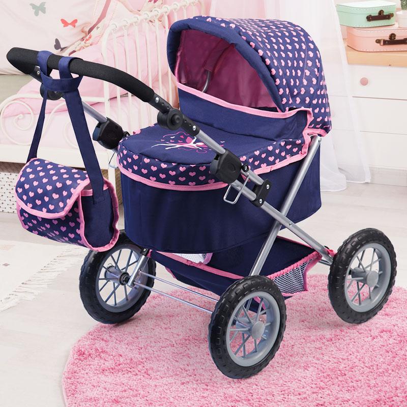 Puppenwagen Trendy dunkelblau ist zusammenklappbar