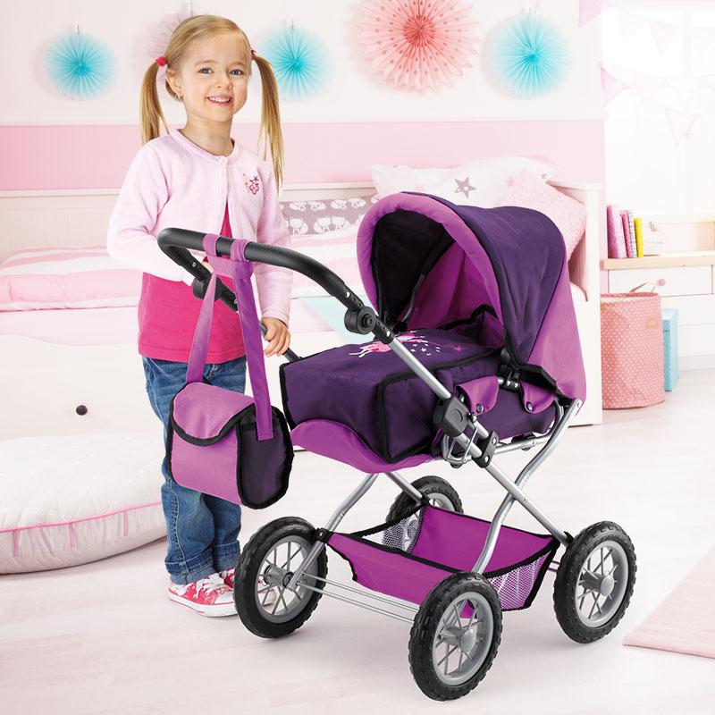 Puppenwagen Grande mit Einkaufskorb