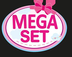 Kombi-Puppenwagen Mega Set