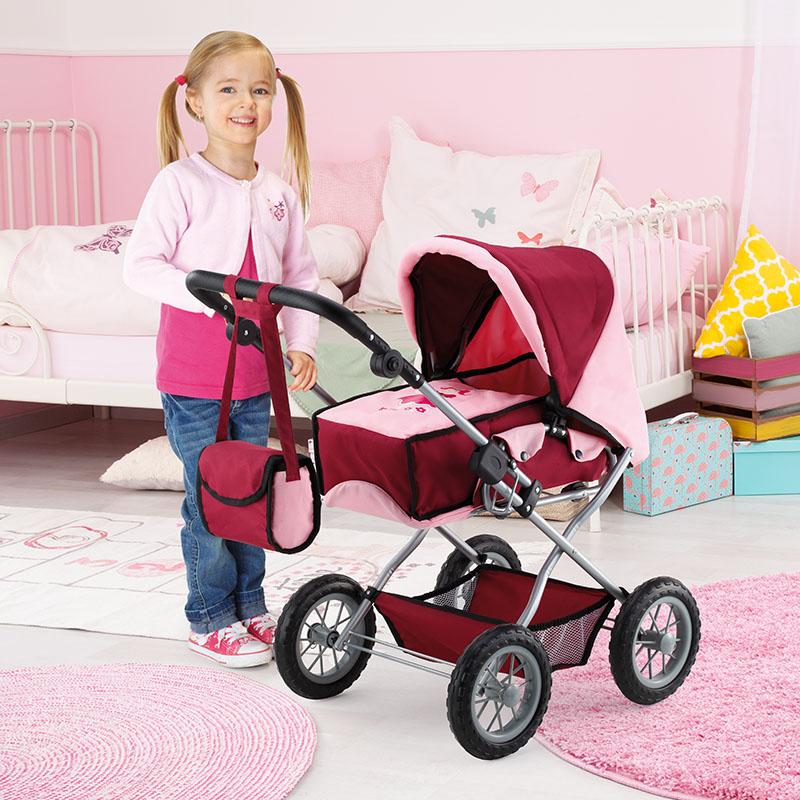 Kombi-Puppenwagen Grande mit weichen leicht laufenden Rädern