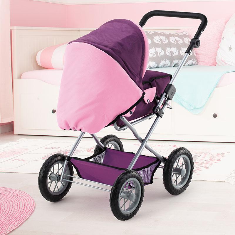 Kombi-Puppenwagen Grande mit Einkaufsnetz