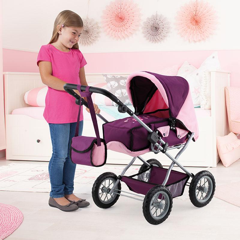 Kombi-Puppenwagen Grande mit verstellbarem Griff