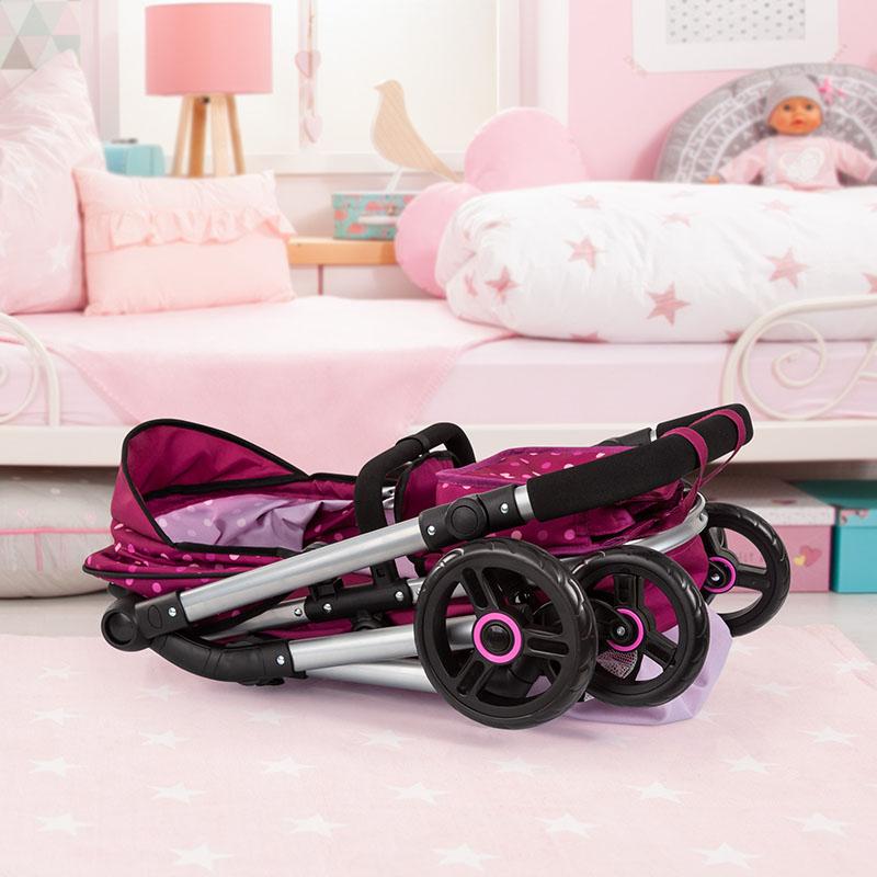 Puppenwagen Neo Vario ist zusammenklappbar