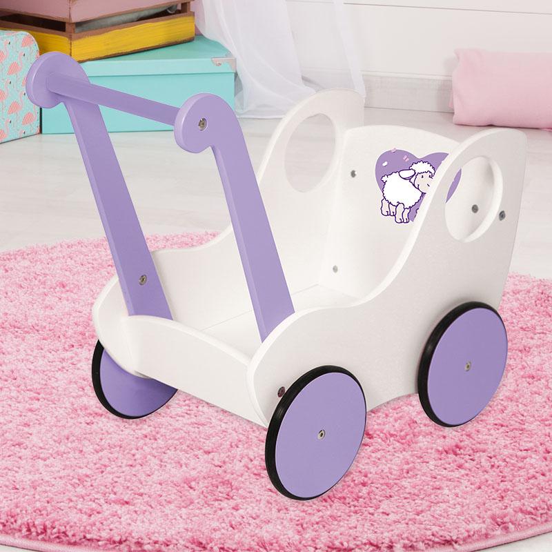 Lauflernwagen in weiß und lila
