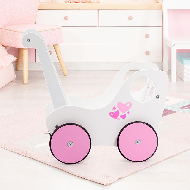 Lauflernwagen mit leicht laufenden und gummierten Rädern