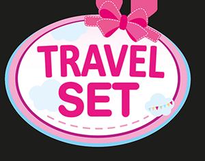 Reise Set 9 in 1 mit Bett und Hochstuhl