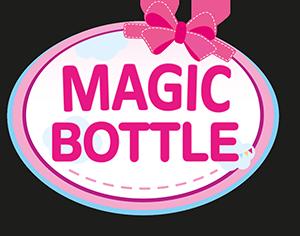 Fläschchen Magic Bottle Milch / Orange