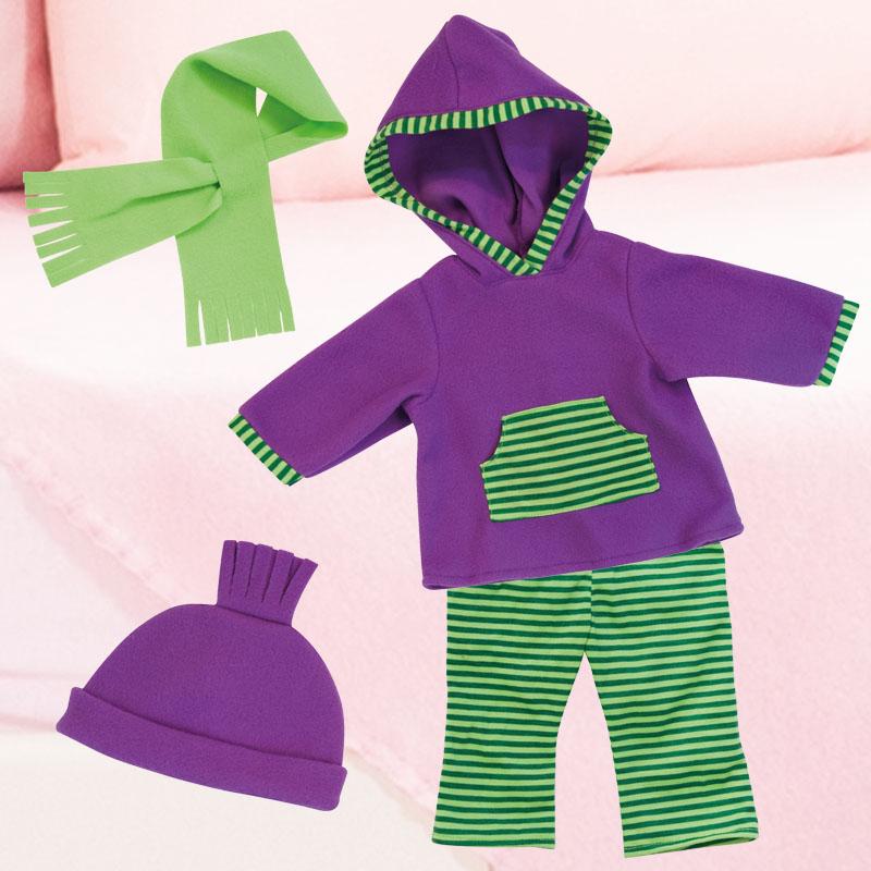Kleider Winterset mit Schal und Mütze