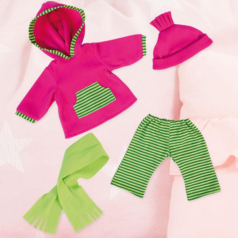 Puppen Winterbekleidung mit Schal und Mütze