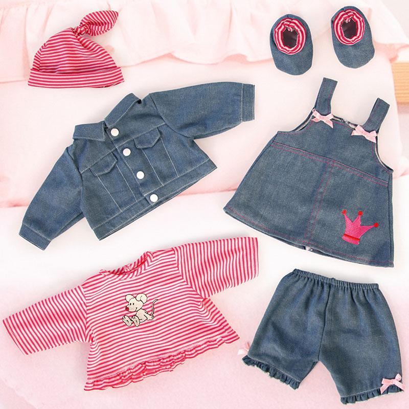 Kleider Set in Jeansoptik
