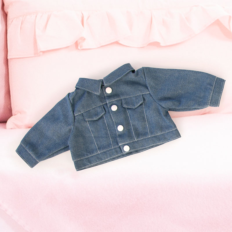 Jacke in Jeansoptik für Puppen