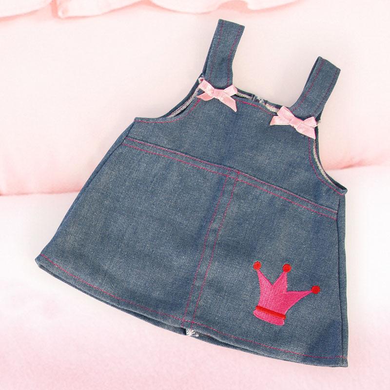 Kleid in Jeansoptik mit Schleifchen und Krone
