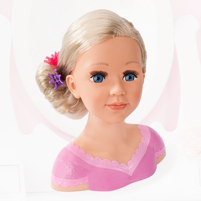 Charlene Super Model Frisur mit Haarclips hoch gesteckt