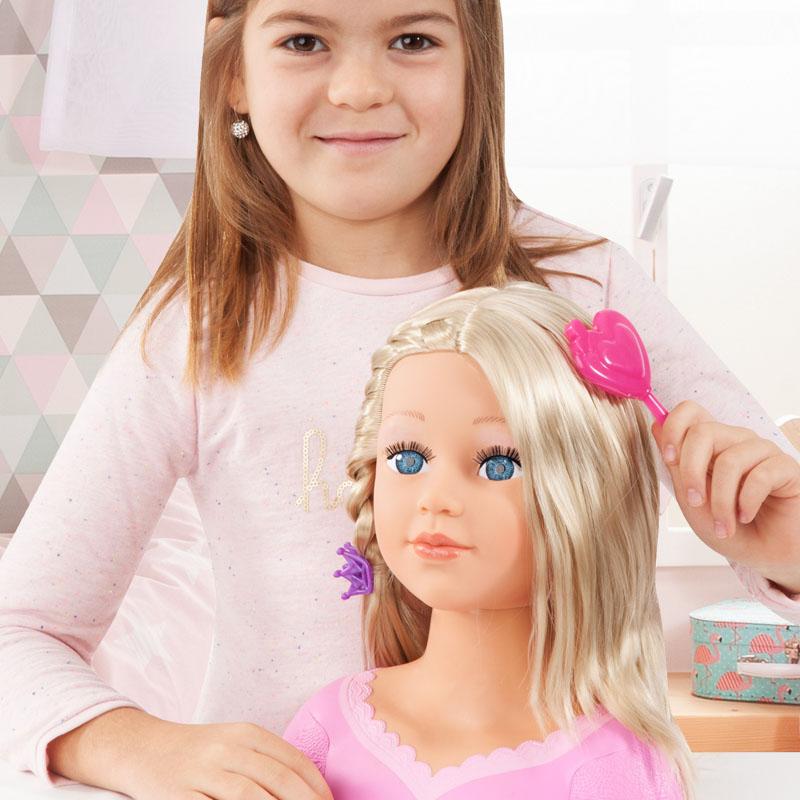 Charlene Super Model Frisierkopf mit langen blonden Haaren