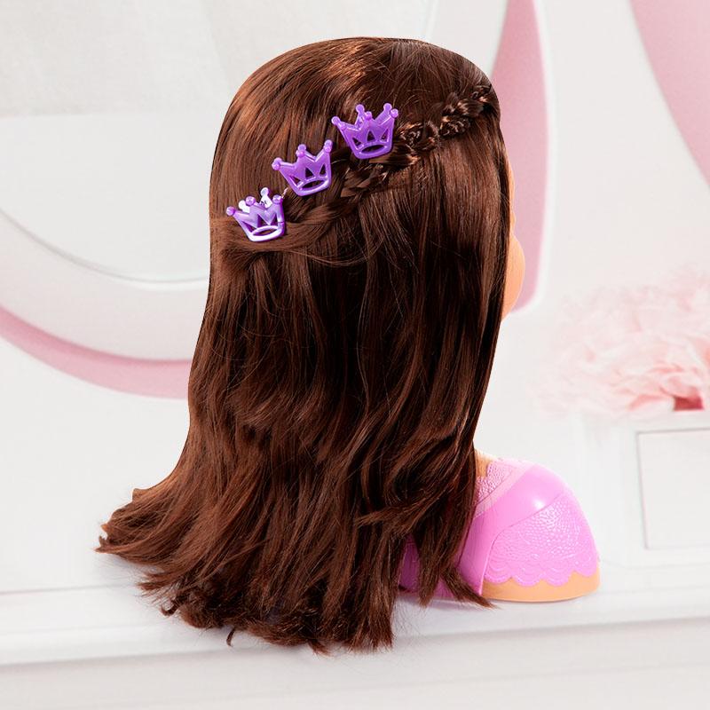 Charlene Super Model Frisur mit drei Haarclips