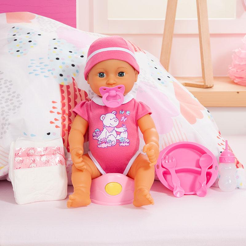 Piccolina Newborn Baby im Set mit viel Zubehör