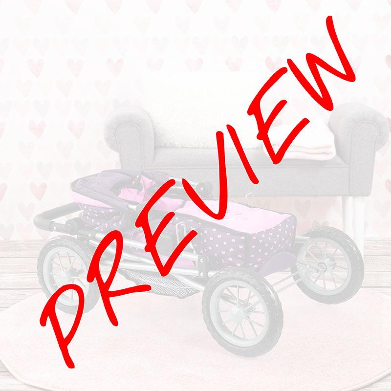 Puppenwagen Trendy lila ist zusammenklappbar