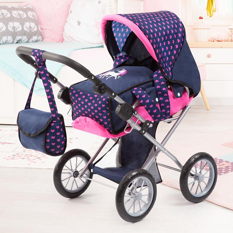 Puppenwagen City Star mit Einkaufskorb