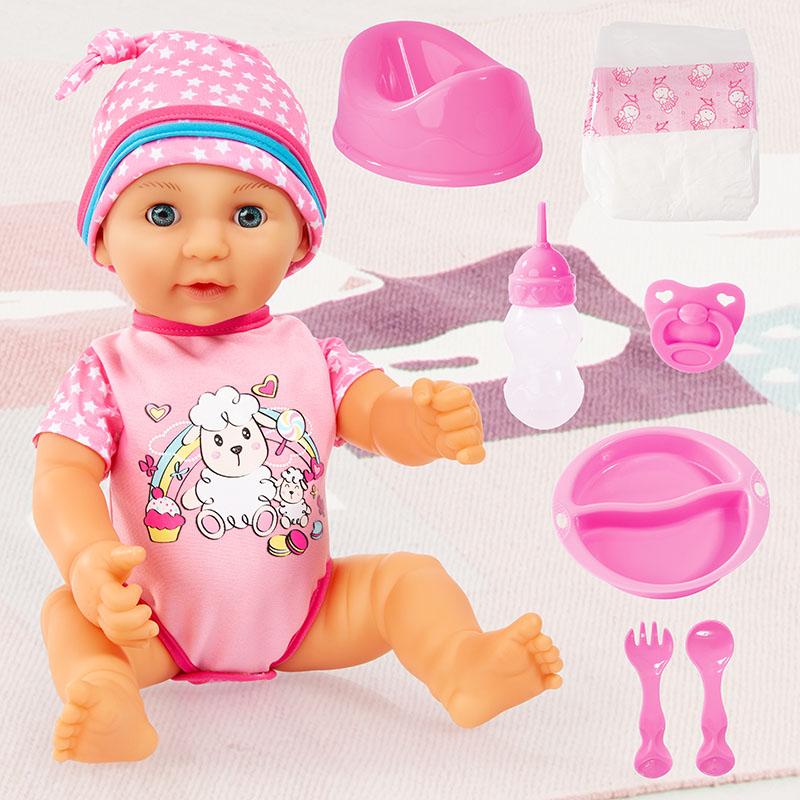 Lisa Newborn Baby im Set mit viel Zubehör