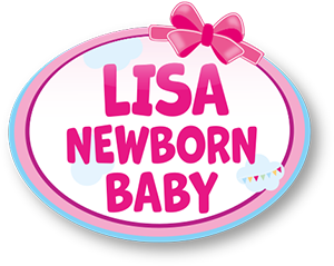 Lisa Newborn Baby mit Windel