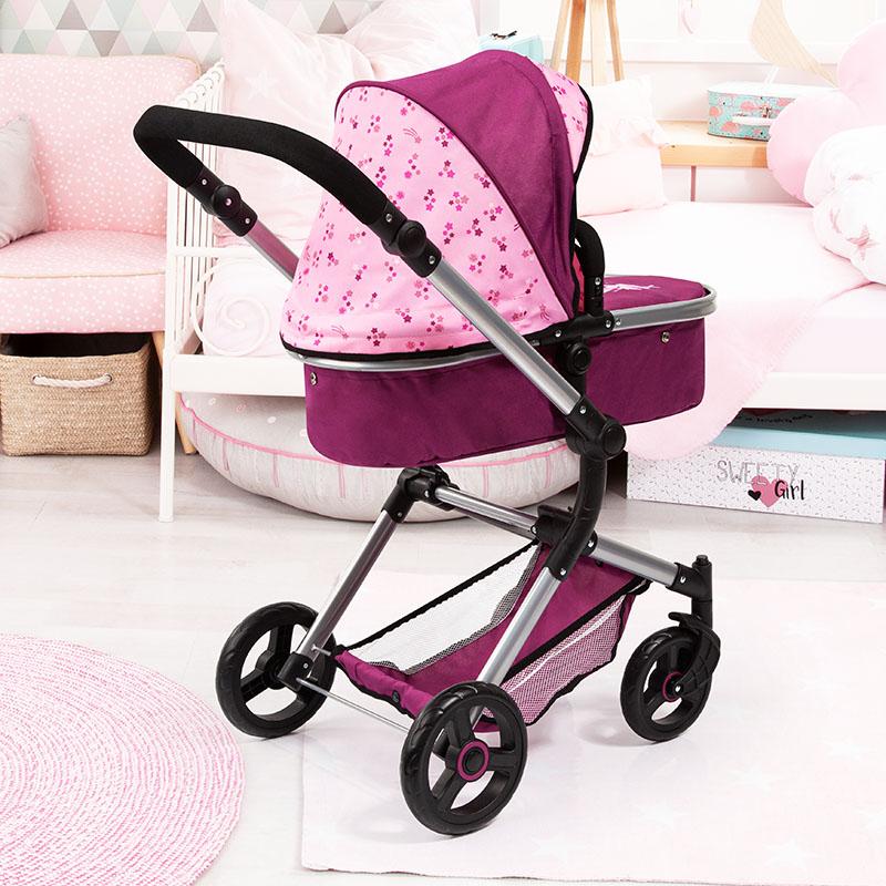 Puppenwagen Neo Vario mit Einkaufsnetz
