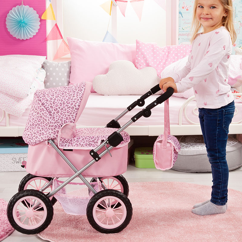 Doll pram Trendy with useful shopping basket