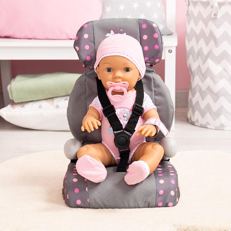 Sicheres Fahren für die Puppe mit dem Puppen-Autositz.
