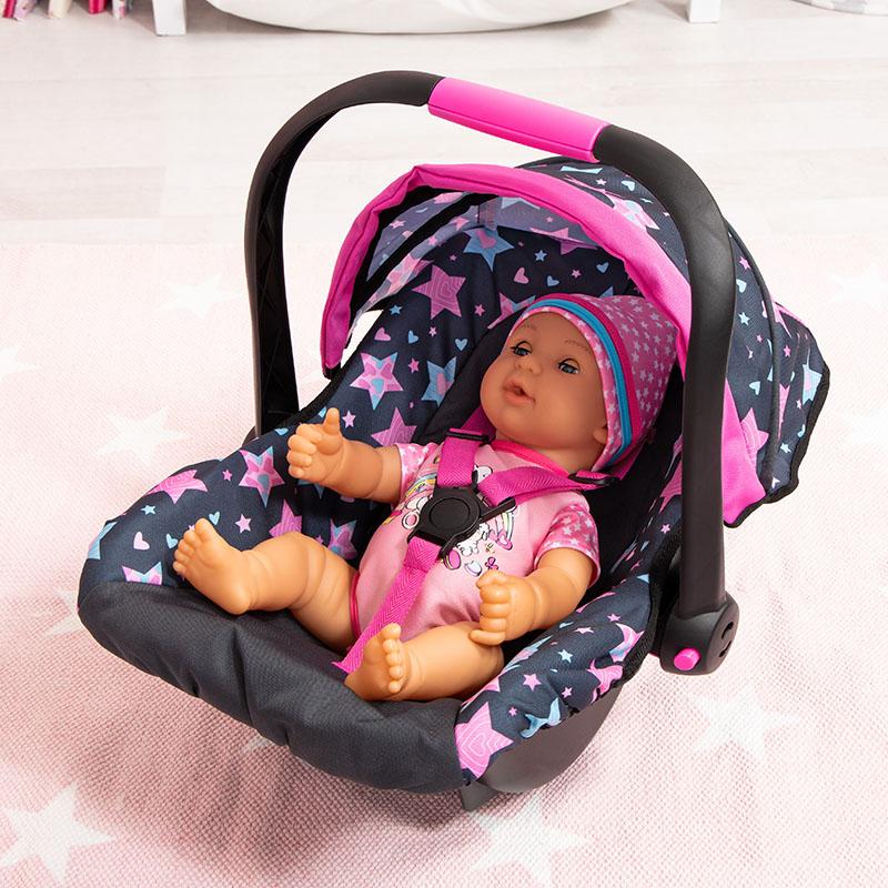 Puppen-Autositz mit Puppe