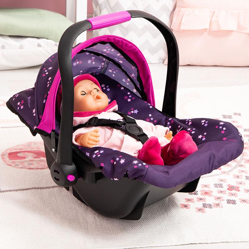 Puppen-Autositz mit Dach und Gurt