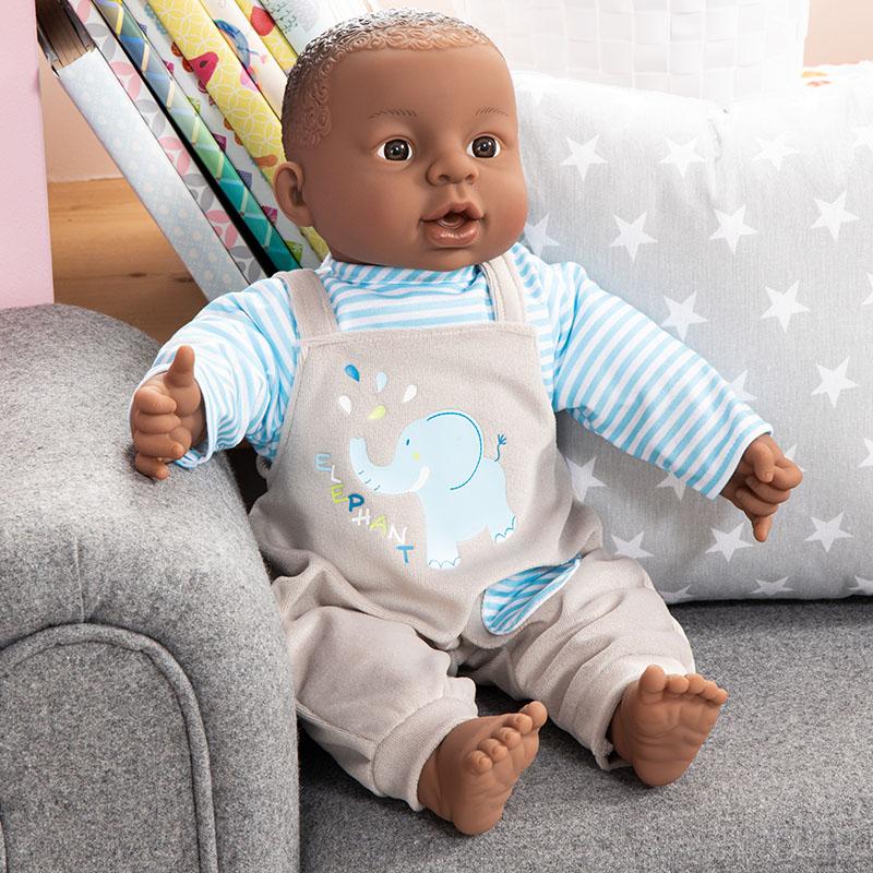 Die Puppe macht 12 verschiedene Babygeräuche