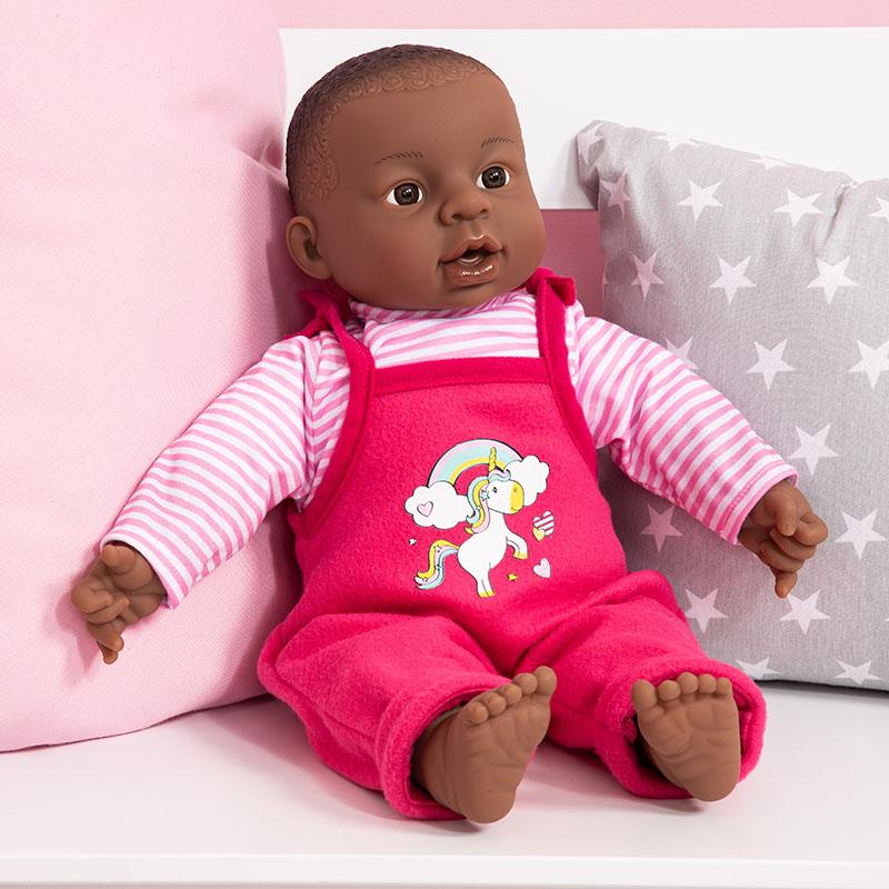 Interactive Baby mit süßen modellierten Locken.