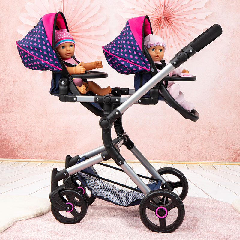 Zwillingswagen hat Leichtlaufräder