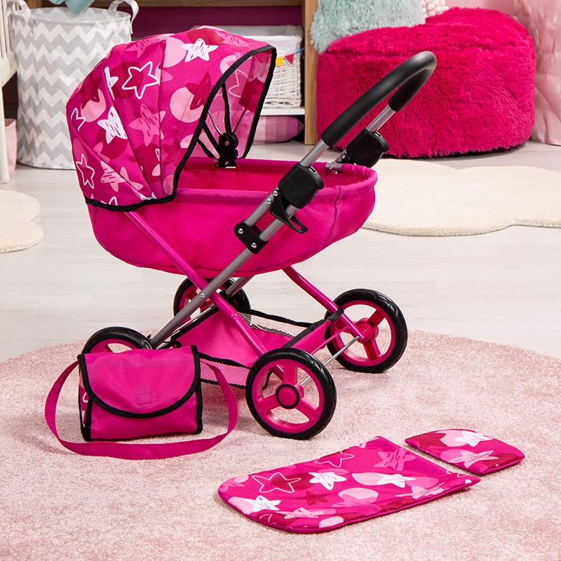 Puppenwagen Cosy mit Einkaufskorb