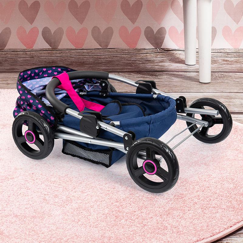 Puppenwagen Cosy ist zusammenklappbar