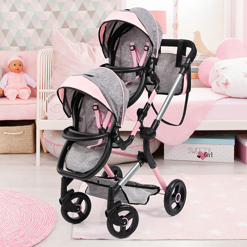 Zwillings-Puppenwagen Twin Neo mit variabler Sitzposition